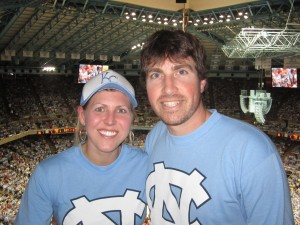 getting to enjoy some Tar Heel basketball after moving to Chapel Hill, NC for grad school